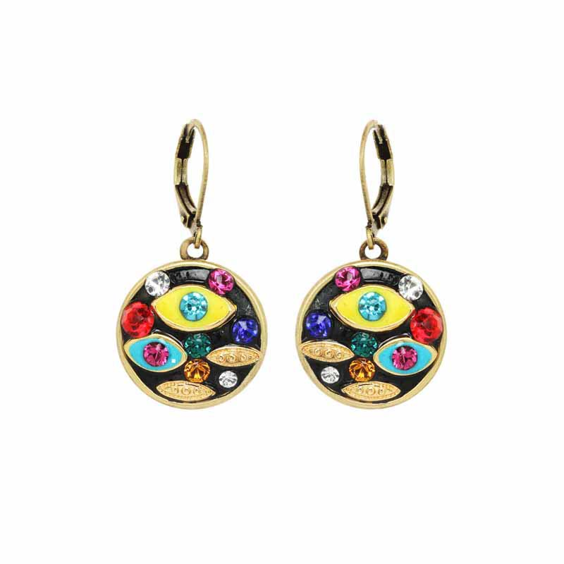 Multi Color Eye Earrings