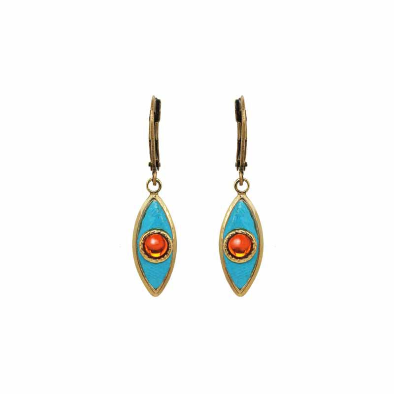 Bright Blue Eye Earrings