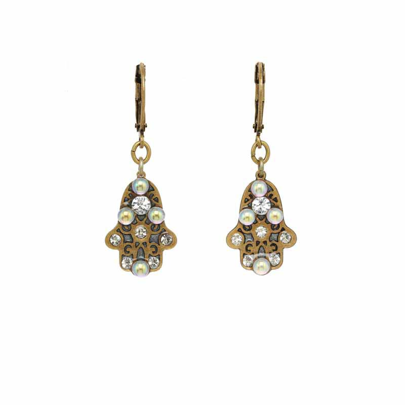 Iridescent Hamsa Earrings