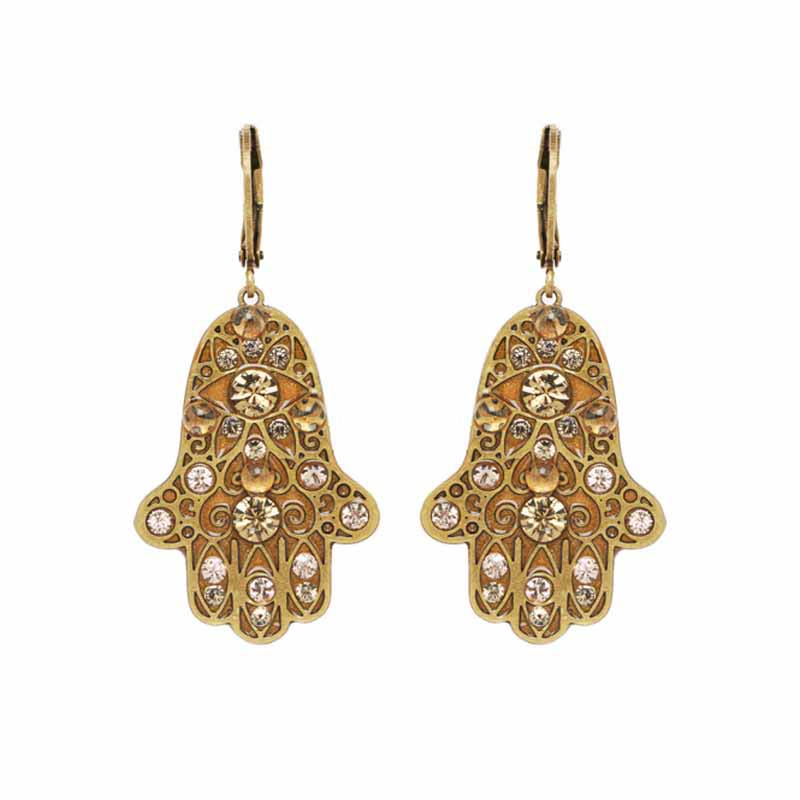 Large Gold Hamsa Earring