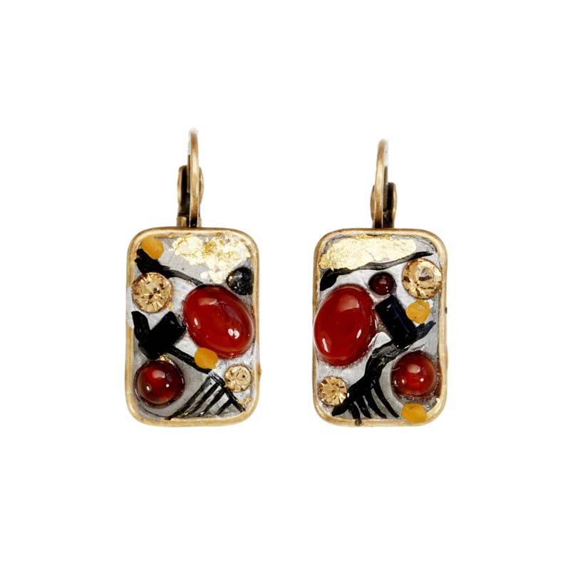 Abstract Rectangle Earrings