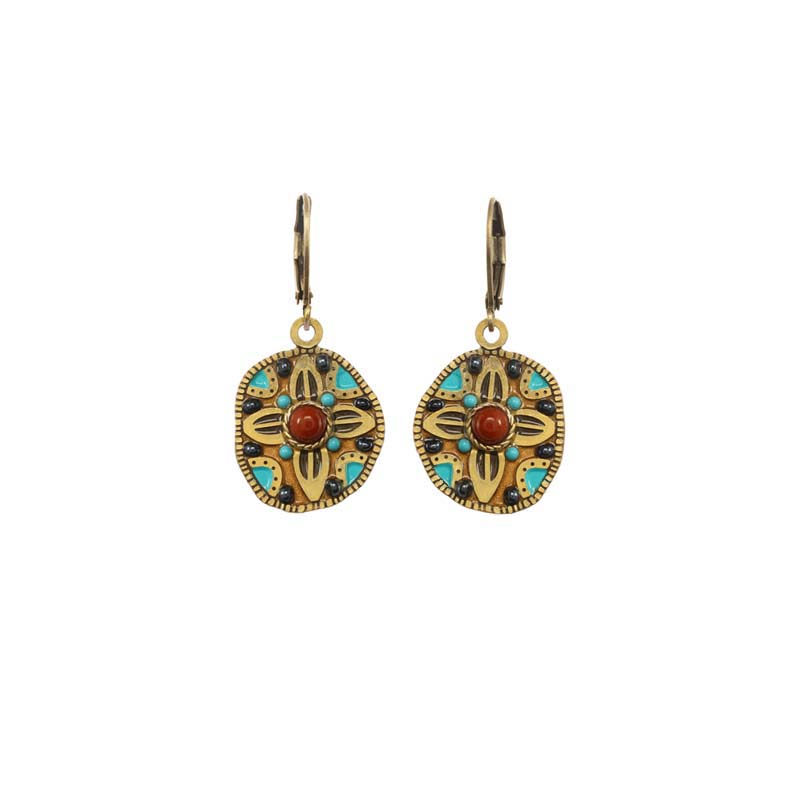 Southwest Circle Drop Earrings