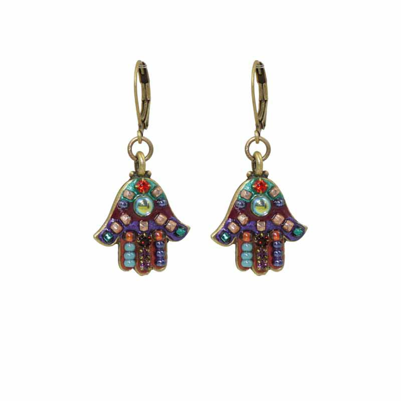 Multi-Bright Hamsa Earring