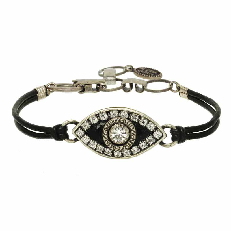 Black and Silver Evil Eye Bracelet