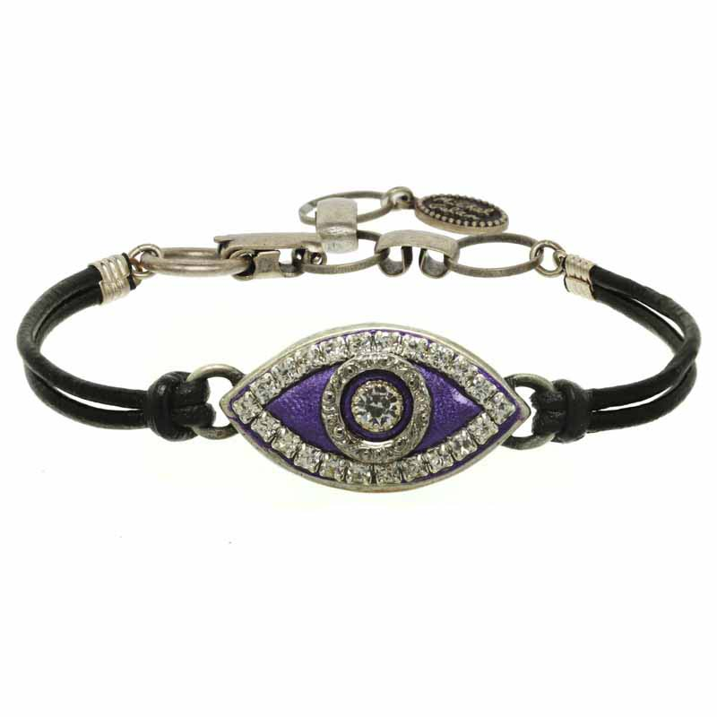 Deep Purple Evil Eye Bracelet