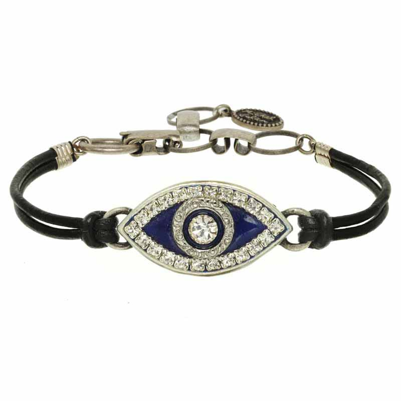 Navy Blue Evil Eye Bracelet