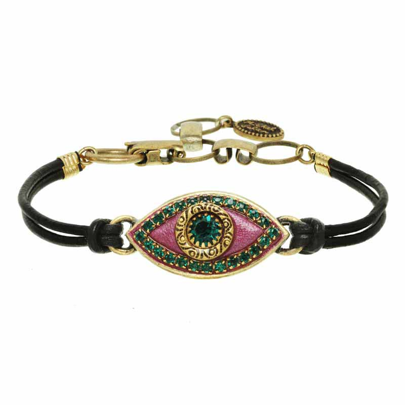 Watermelon Evil Eye Bracelet