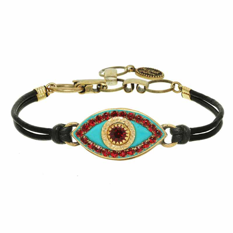 Red and Turquoise Evil Eye Bracelet