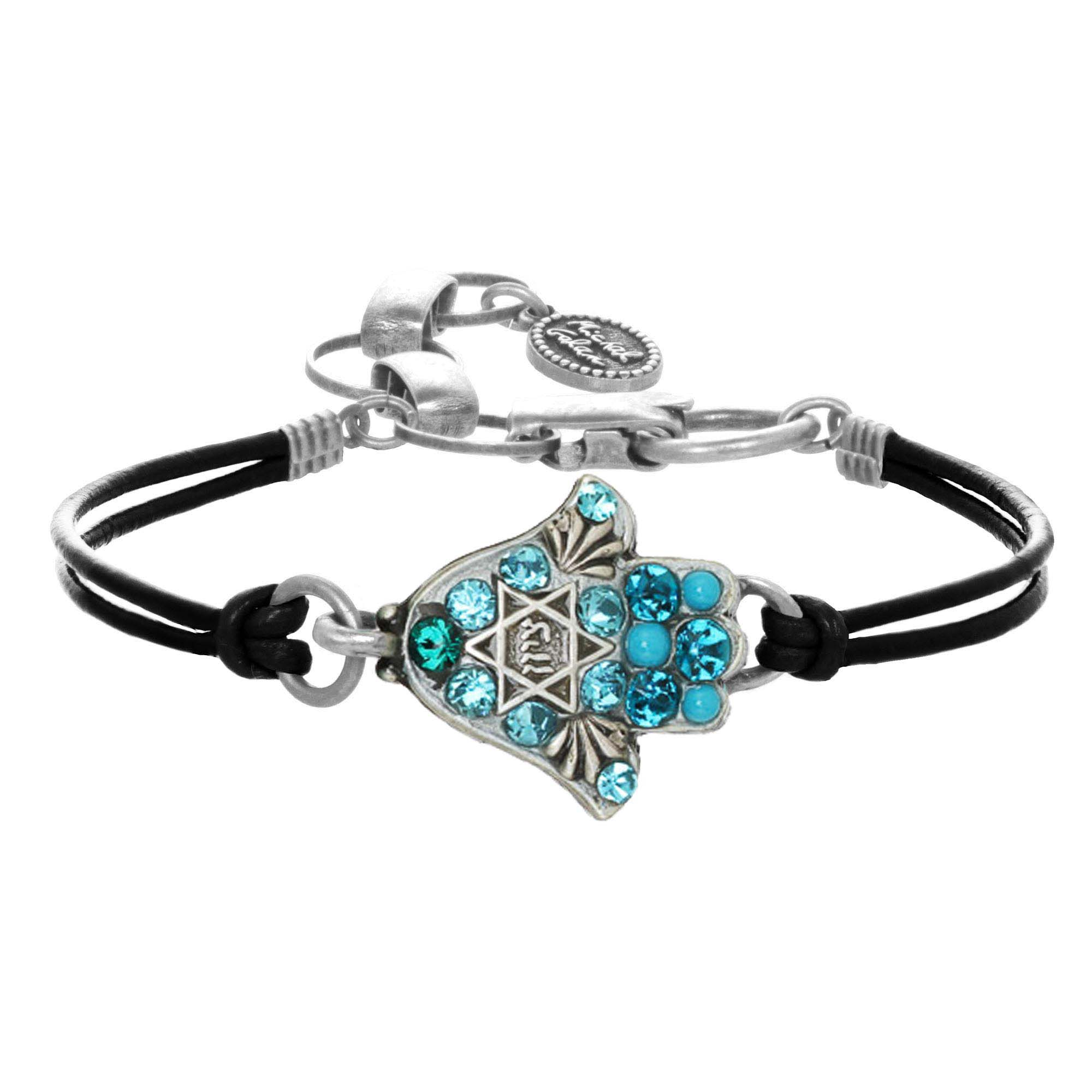 Blue Star of David Bracelet