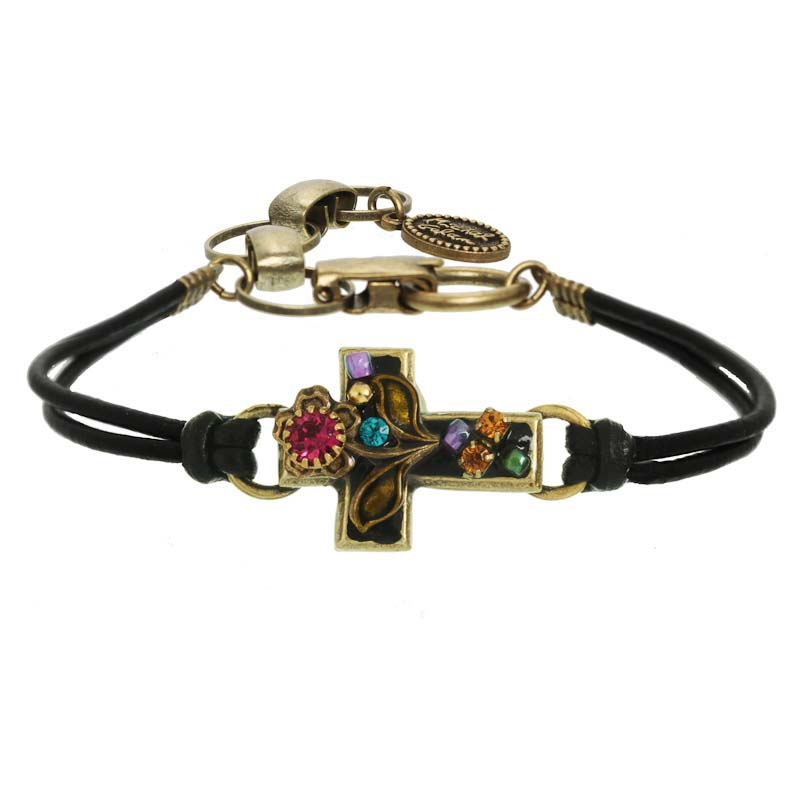 Midnight Garden Cross Bracelet