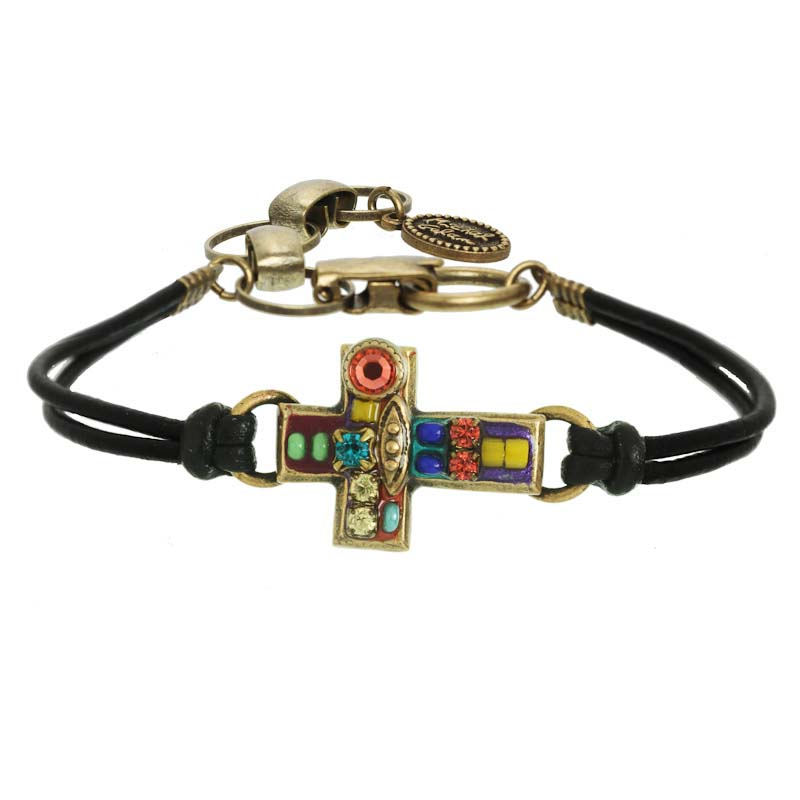 Multi Bright Cross Bracelet