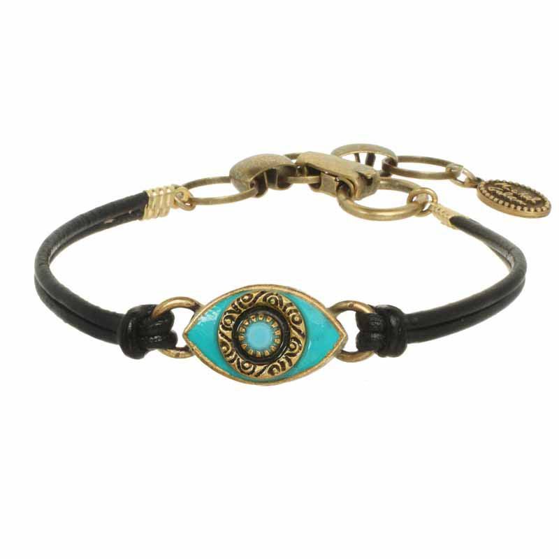Mini Teal Evil Eye Bracelet