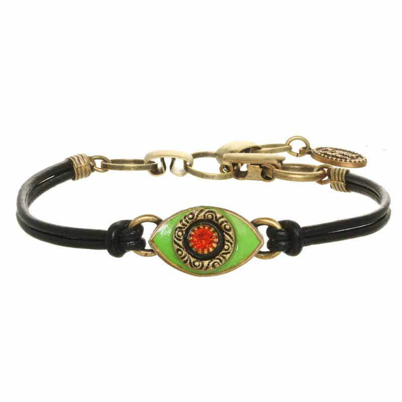 Mini Neon Green Evil Eye Bracelet