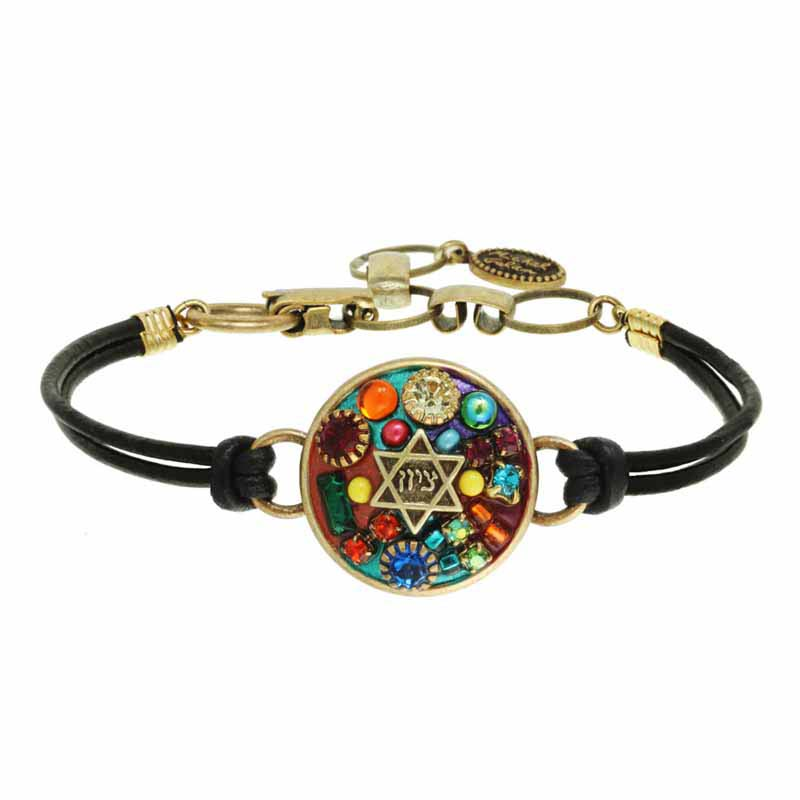Multibright Star of David Bracelet