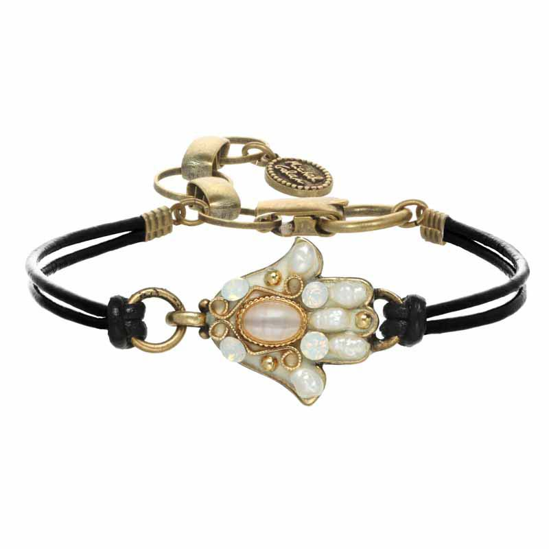Mother of Pearl Hamsa Bracelet