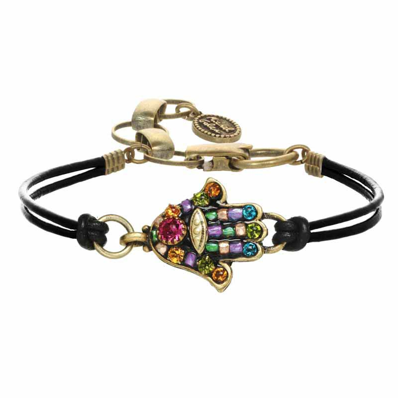 Black Multi-Bright Hamsa Bracelet