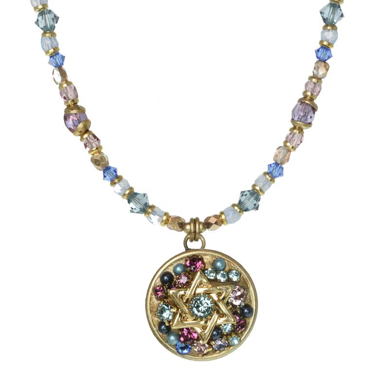 Dazzling Star of David Necklace
