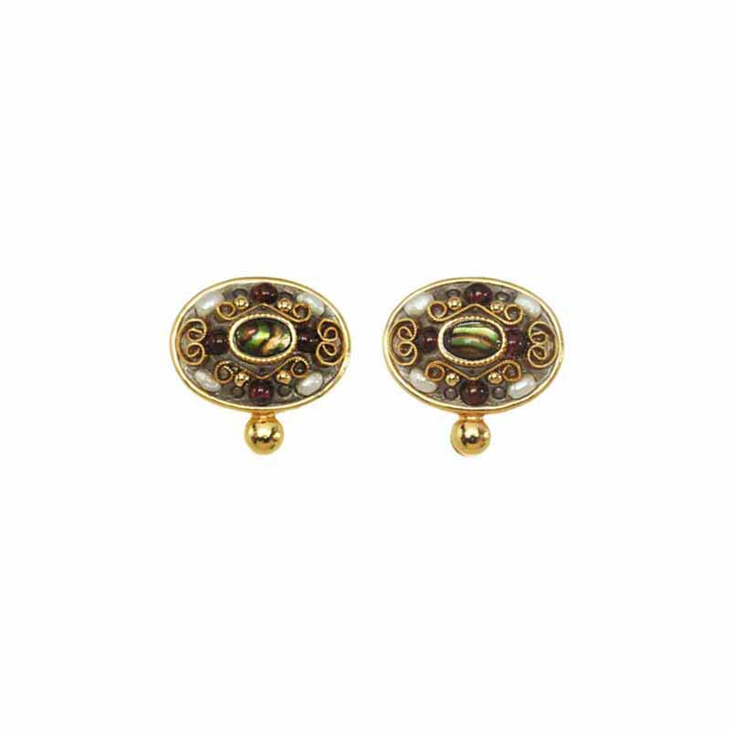 Oval Clip Earrings