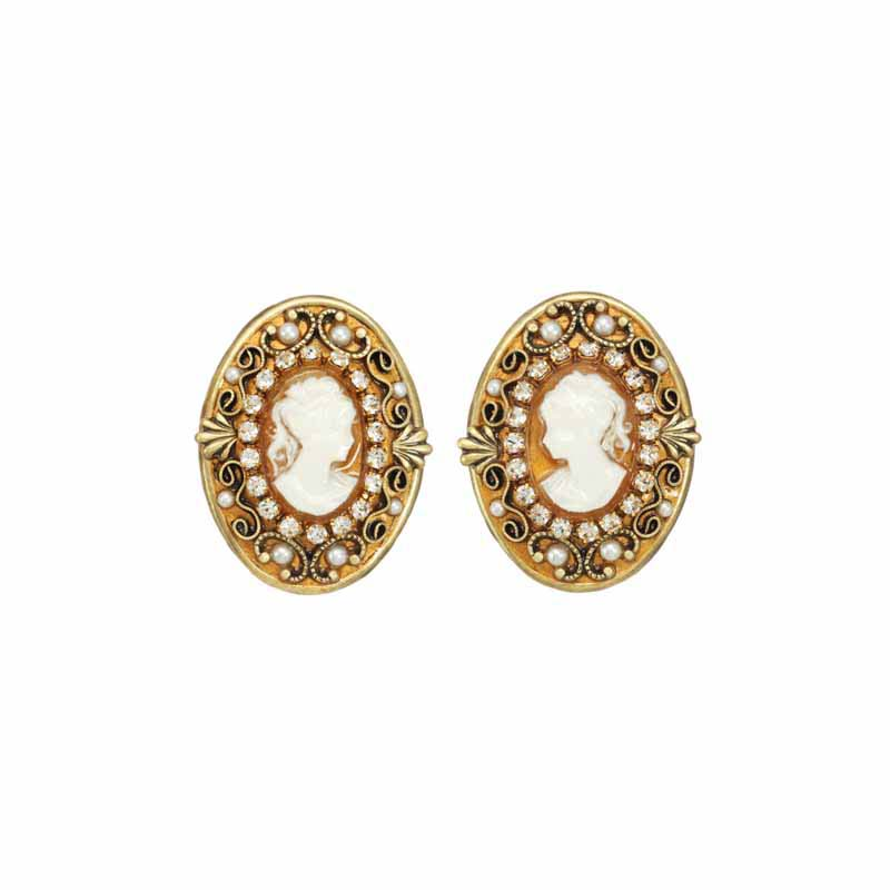 Cameo Clip Earrings
