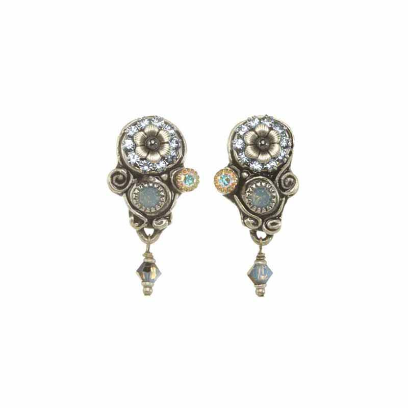 Blue Frost Sparkling Clip Earring