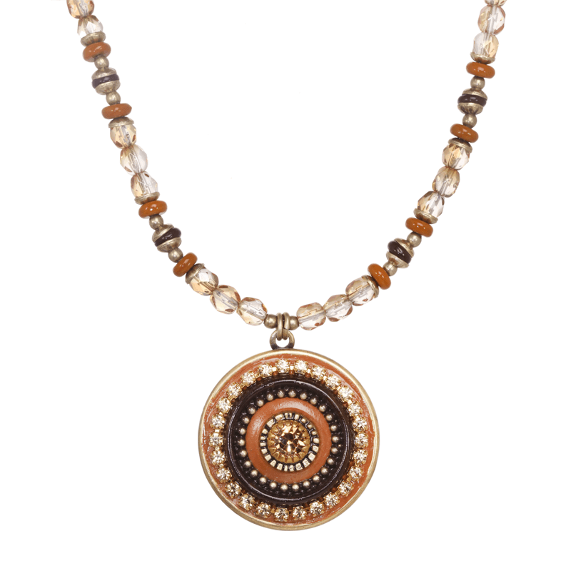 Brown Circle Necklace