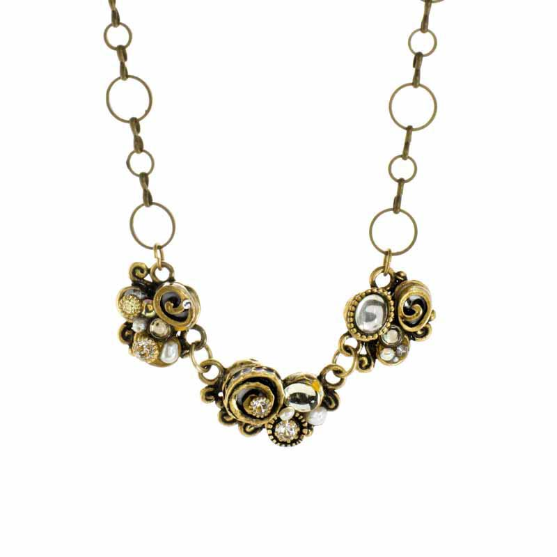 Champagne Abstract Necklace