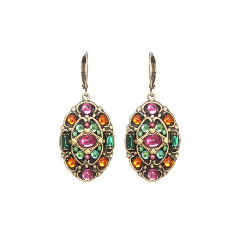 Prismatic Oval Earrings