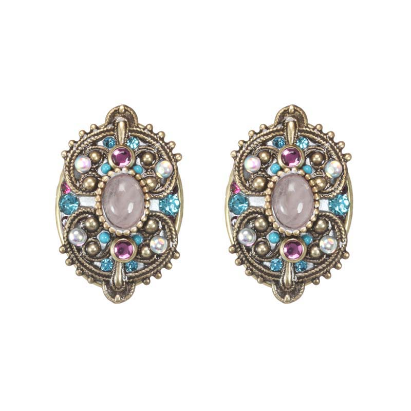 Rose Intricate Clip Earrings