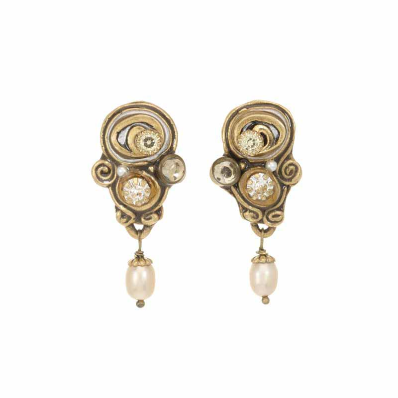 Champagne Swirl Drop Earrings
