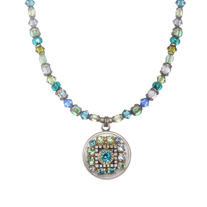 Blue & Green Circle Necklace