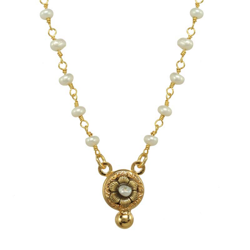 Elegante Flower Dangle Necklace