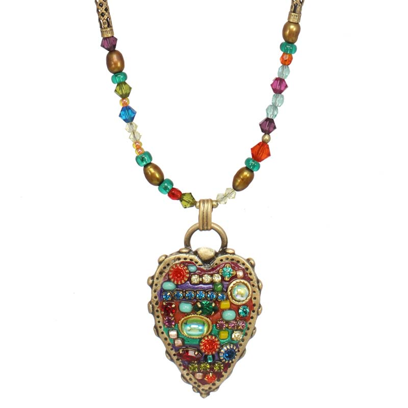 Multi Bright Heart II Necklace
