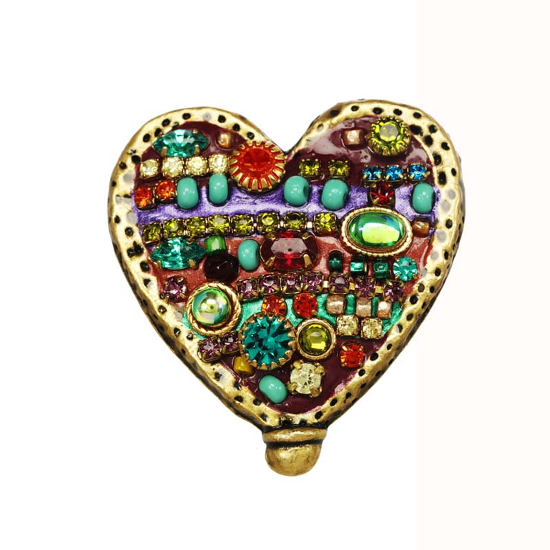 Multi-Bright Heart Pin
