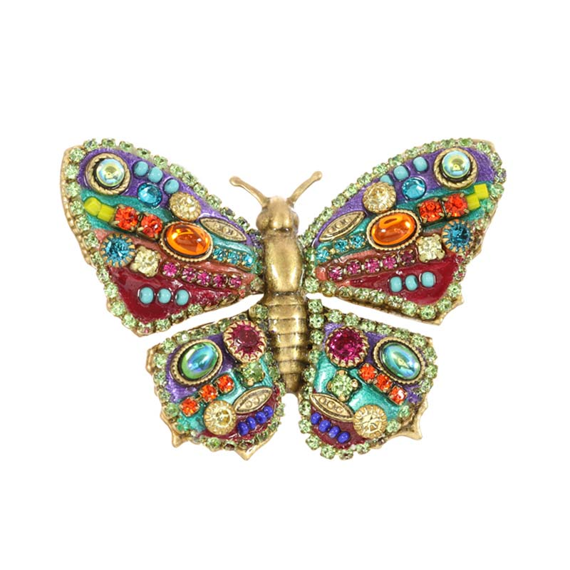 Multi-Bright Butterfly Pin