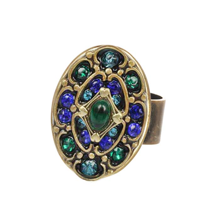 Peacock Oval Ring