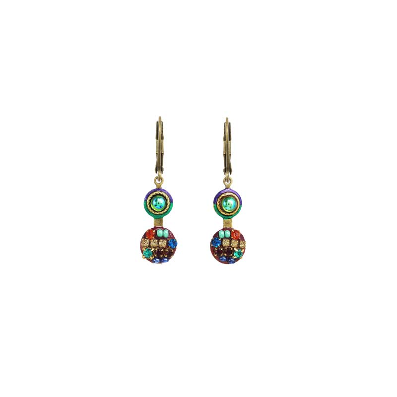 Multi-Bright Double Circle Earrings