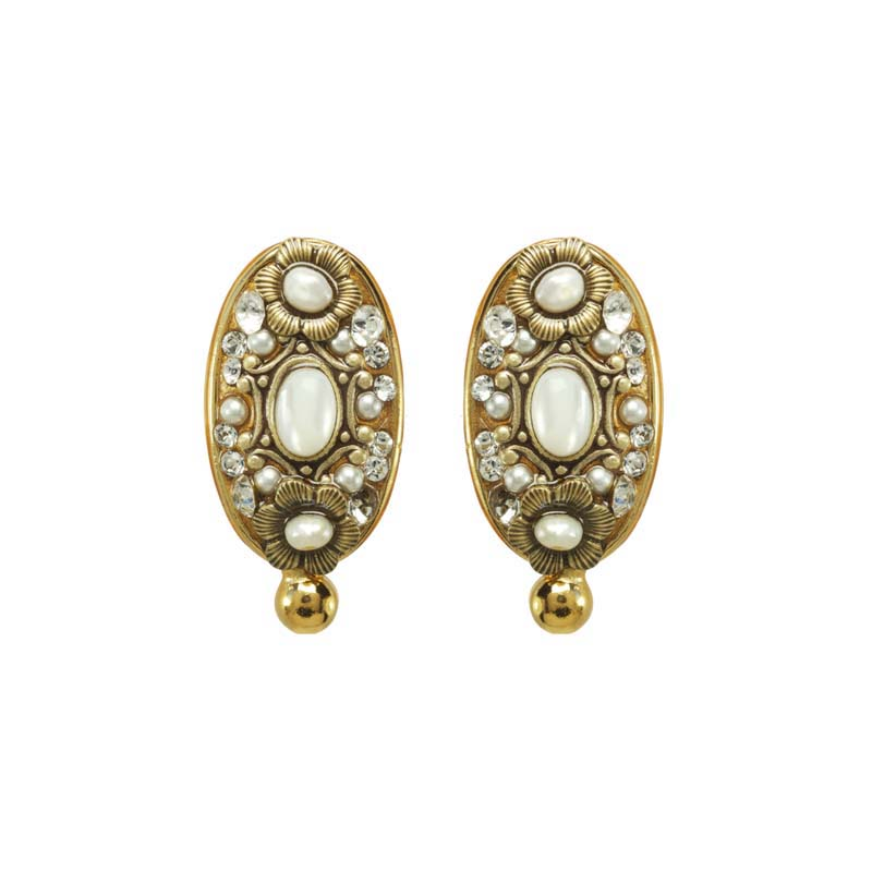 Elegante Oval I Clip Earrings