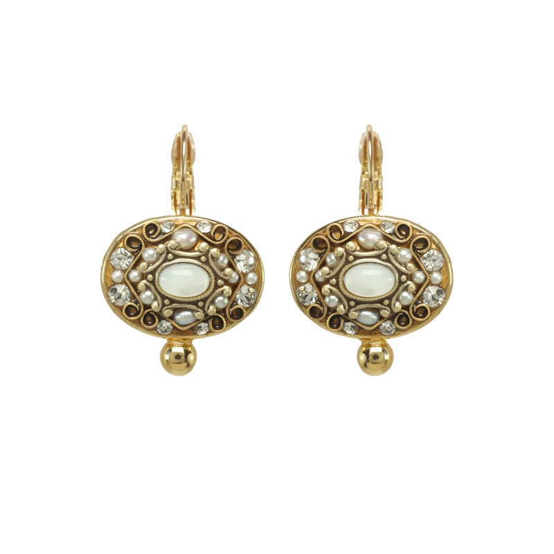 Elegante Big Oval Earrings