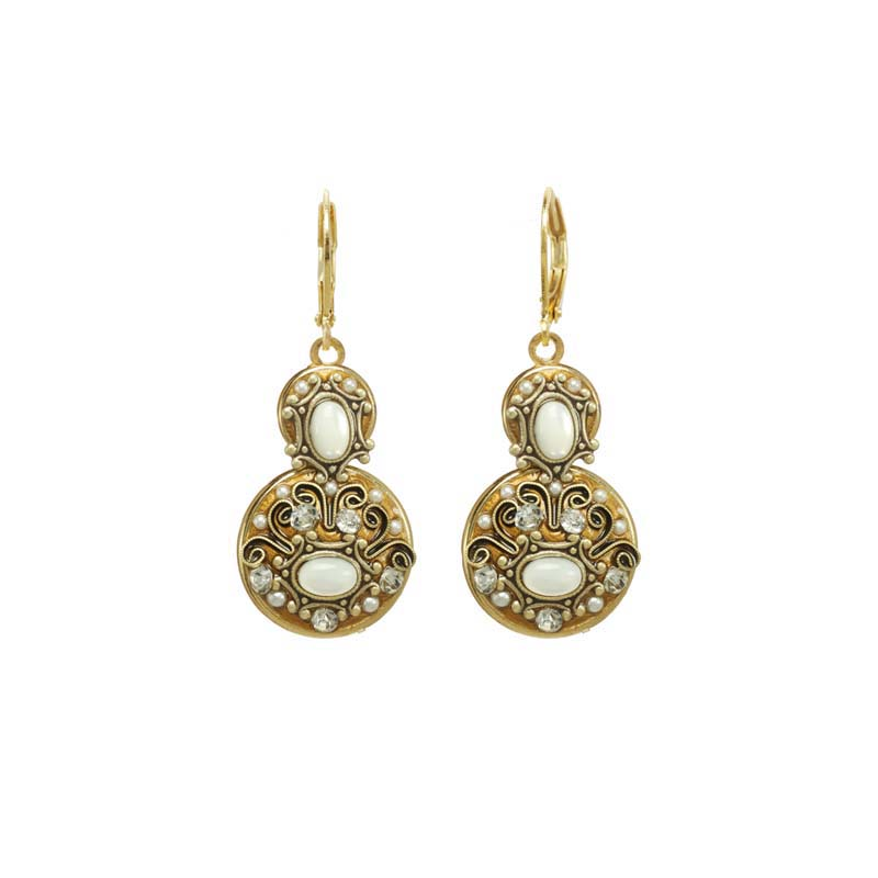 Elegante Double Circle Earrings