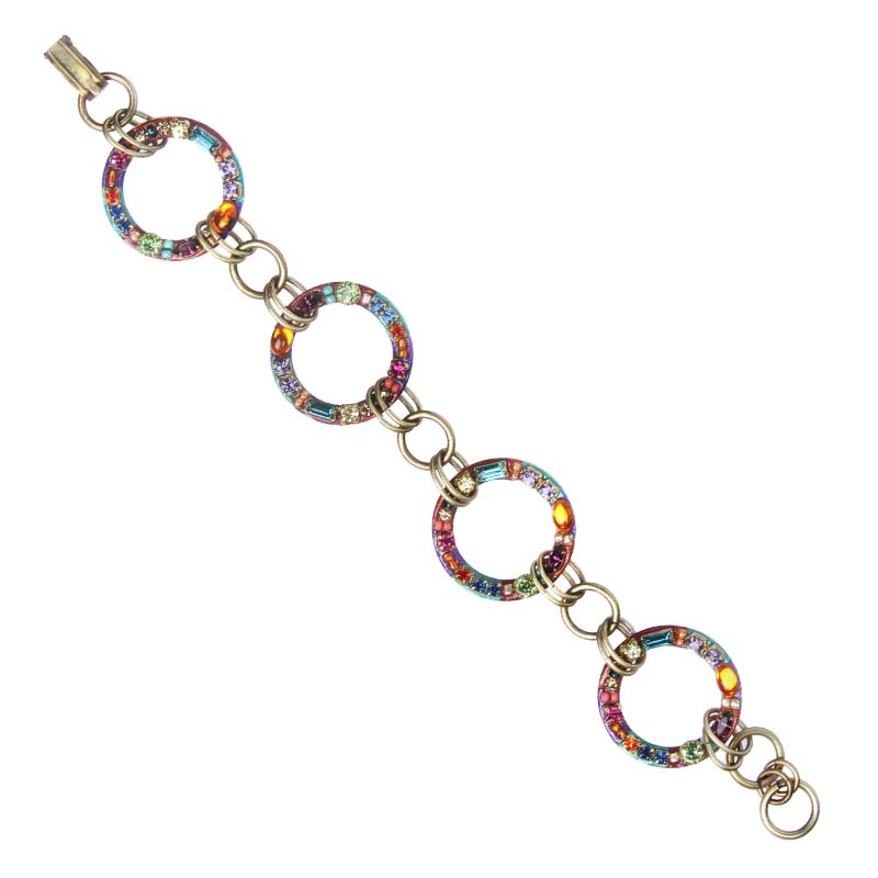 Multi-Bright Circles Bracelet