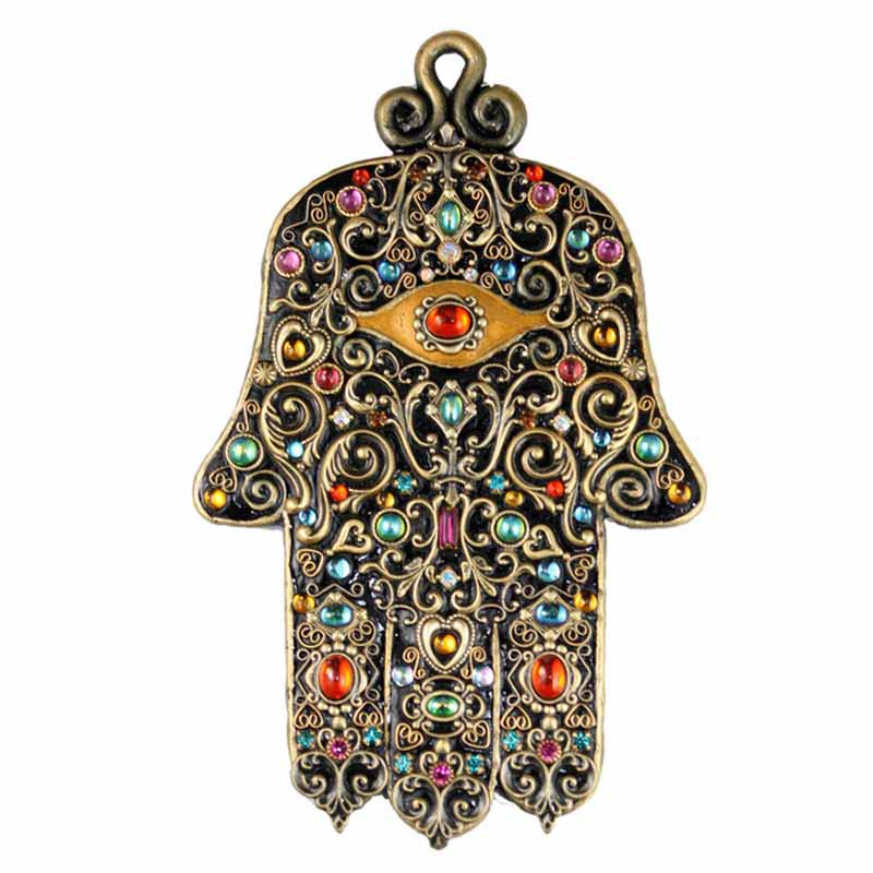 Black and Gold Wall Hamsa
