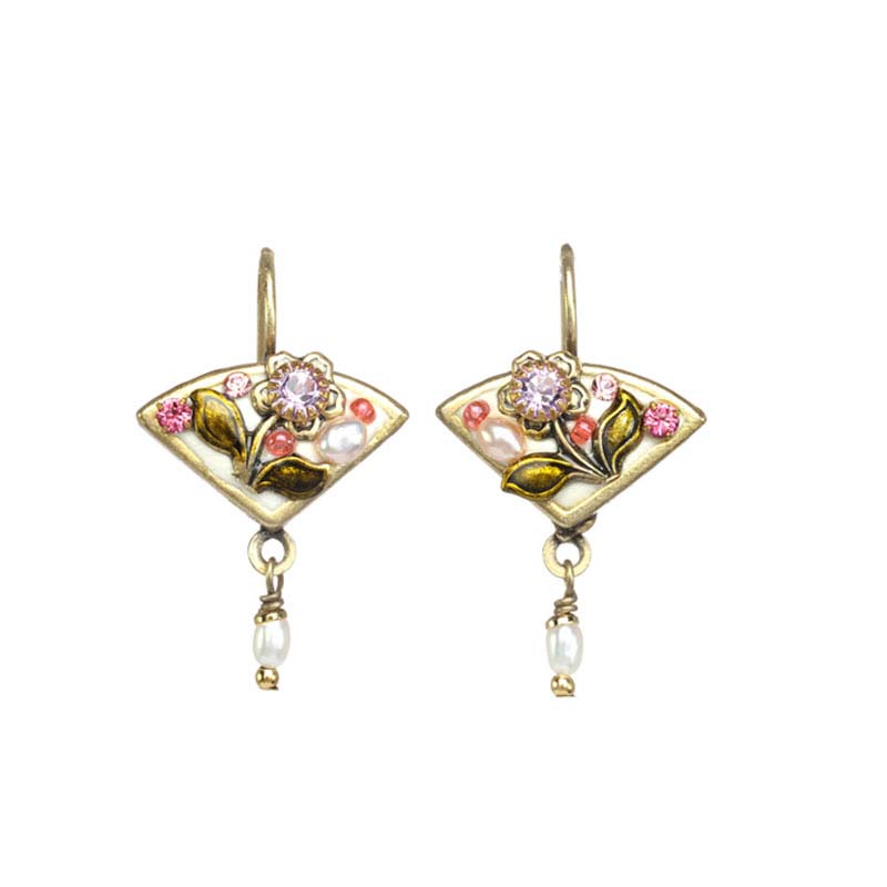 Pearl Blossom Fan Earrings