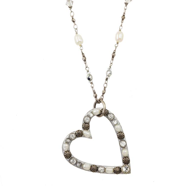 Bridal Open Heart Necklace