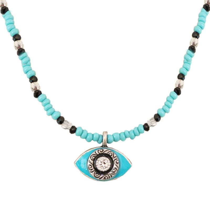 Turquoise Beaded Eye Necklace