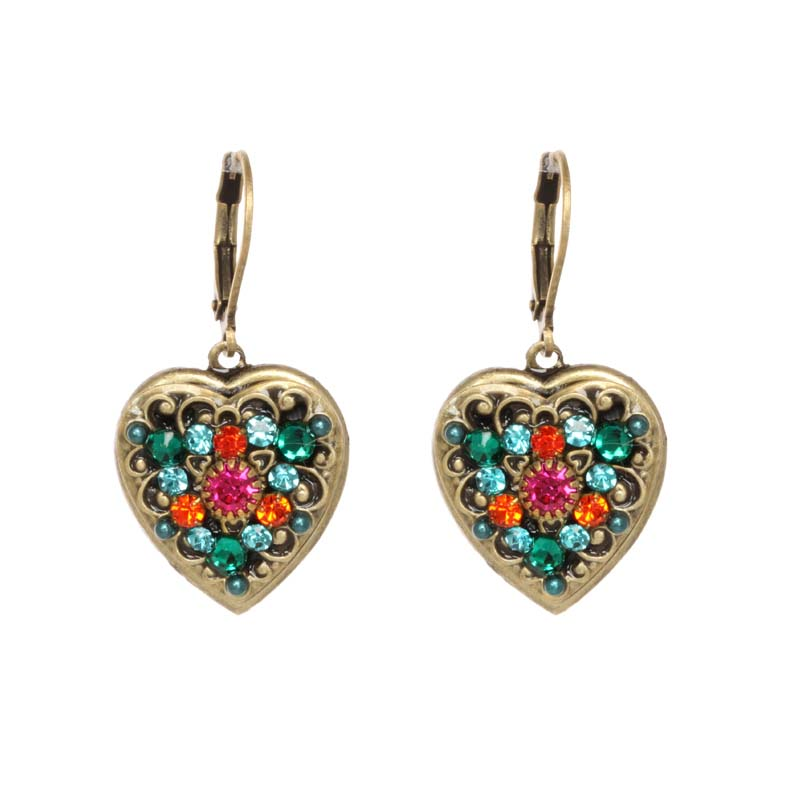 Prismatic Heart Earrings
