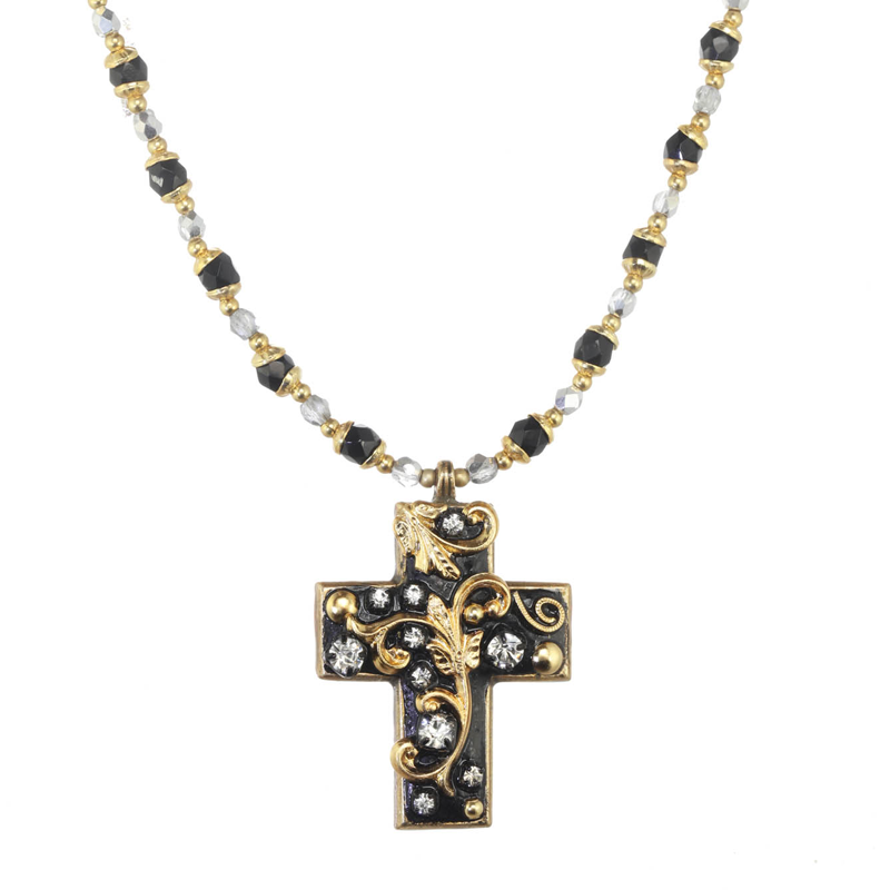 Black and Gold Cross