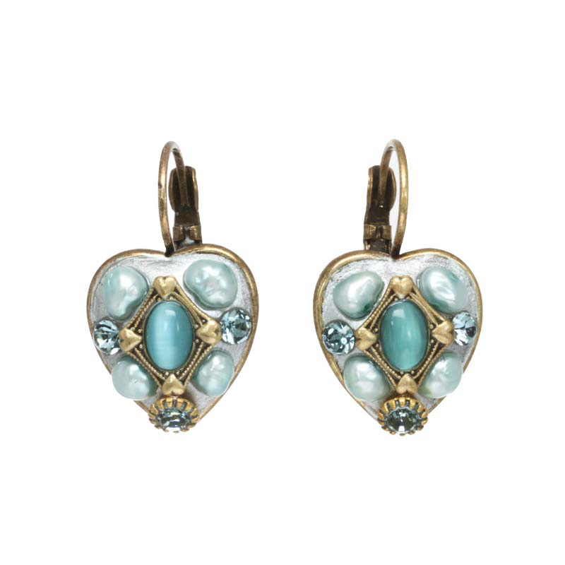Cat's Eye Heart Earrings