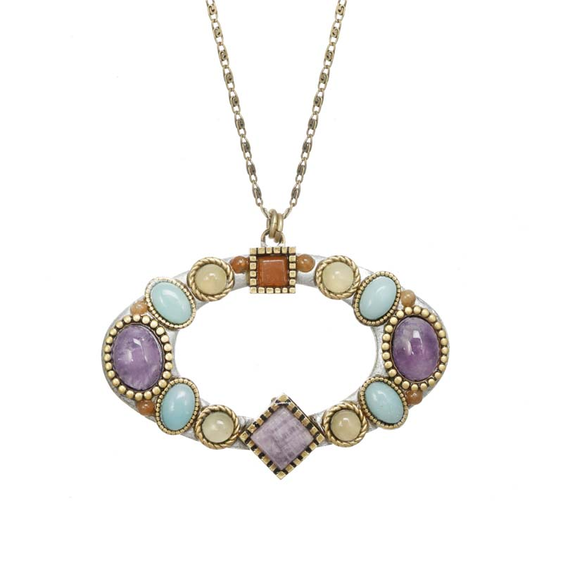 Mojave Open Oval Necklace