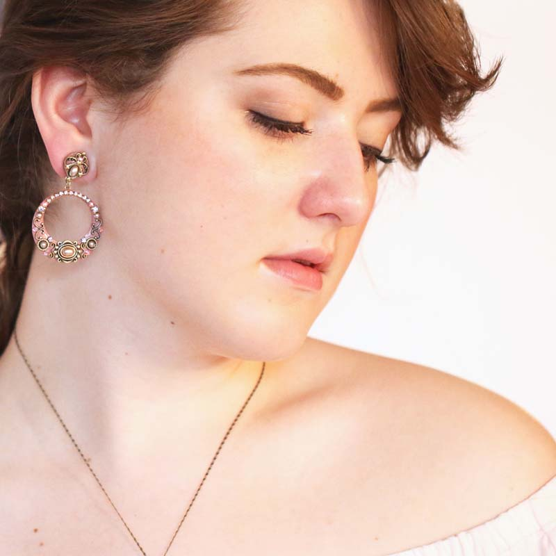 Pretty in Pink Hoops Earrings