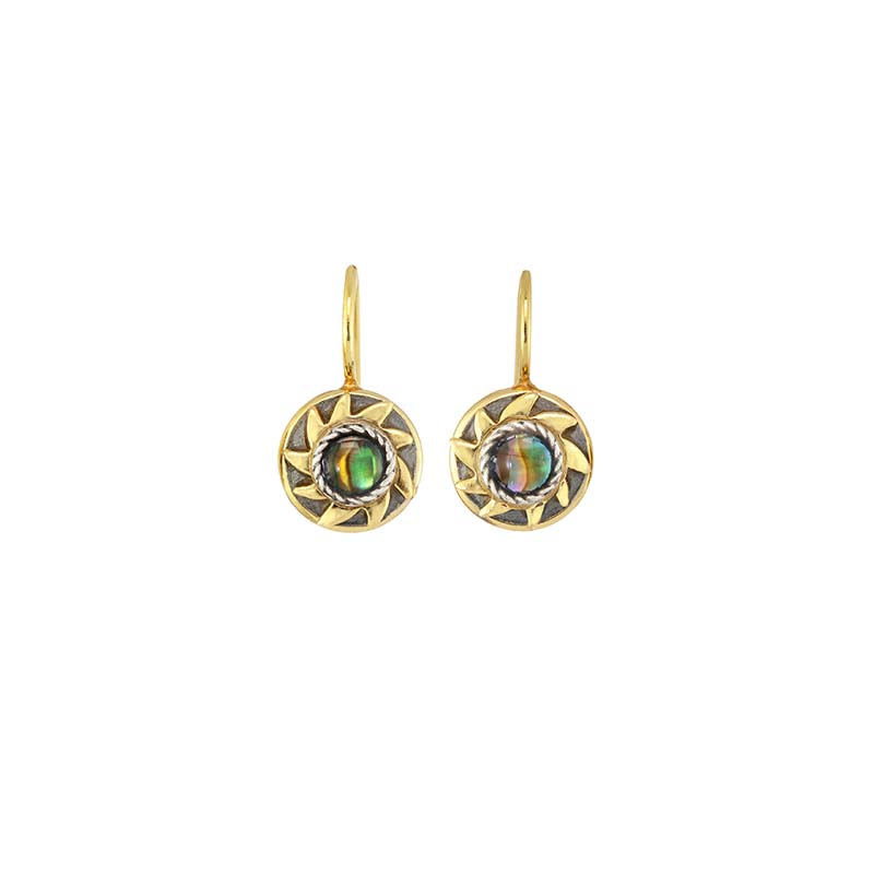 Tiny Abalone Sun Earring